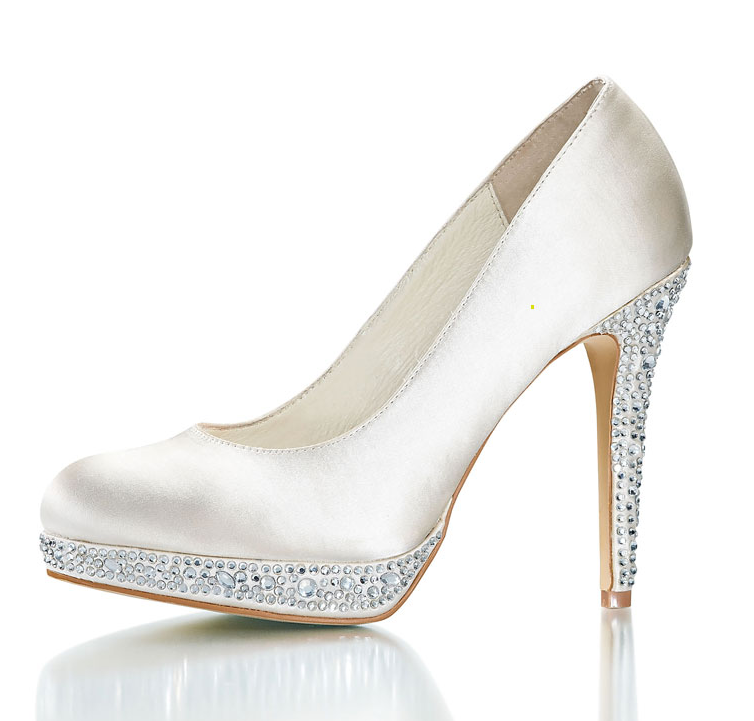 Silver Bridal Shoes Uk